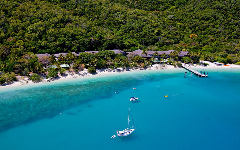 FITZROY ISLAND - Welcome Bay Aerial